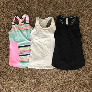 Ivivva lululemon 3 tank top bundle youth size 8